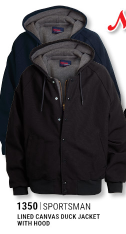 1350 Sportsman Lined Canvas Duck Jacket with Hood